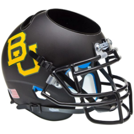 Baylor Bears Matte Black Schutt Mini Football Helmet Desk Caddy