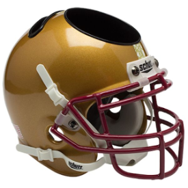 Boston College Eagles Stained Glass Schutt Mini Football Helmet Desk Caddy