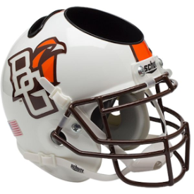 Bowling Green Falcons White Schutt Mini Football Helmet Desk Caddy