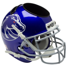 Boise State Broncos Schutt Mini Football Helmet Desk Caddy