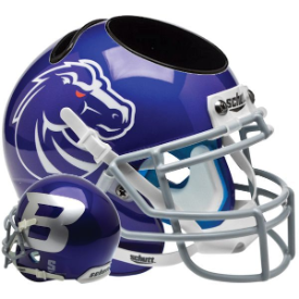 Boise State Broncos Blue Schutt Mini Football Helmet Desk Caddy