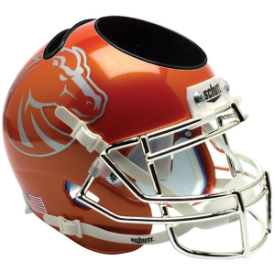 Boise State Broncos Orange Schutt Mini Football Helmet Desk Caddy