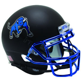 Buffalo Bulls Chrome Mask Schutt Mini Football Helmet Desk Caddy