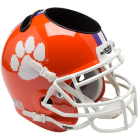 Clemson Tigers Schutt Mini Football Helmet Desk Caddy