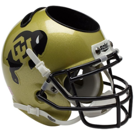 Colorado Buffaloes Schutt Mini Football Helmet Desk Caddy