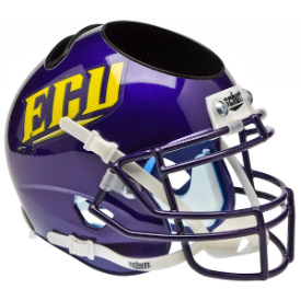 East Carolina Pirates ECU Schutt Mini Football Helmet Desk Caddy