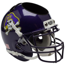 East Carolina Pirates Schutt Mini Football Helmet Desk Caddy