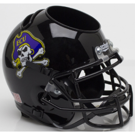 East Carolina Pirates Black Schutt Mini Football Helmet Desk Caddy