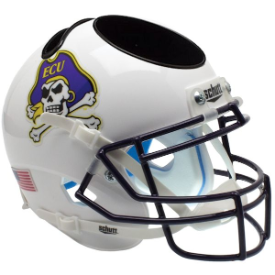 East Carolina Pirates White Schutt Mini Football Helmet Desk Caddy