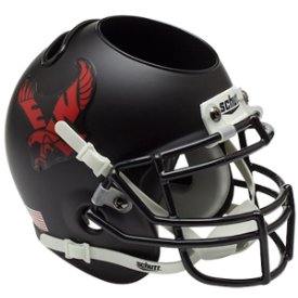 Eastern Washington Eagles Matte Black Schutt Mini Football Helmet Desk Caddy