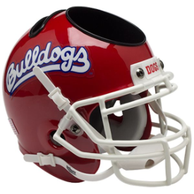 Fresno State Bulldogs Scarlet Schutt Mini Football Helmet Desk Caddy