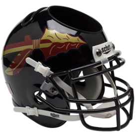 Florida State Seminoles Black Schutt Mini Football Helmet Desk Caddy