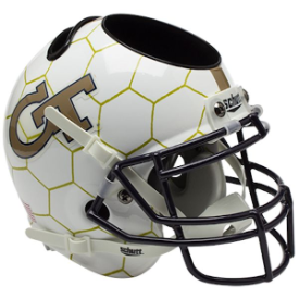 Georgia Tech Yellow Jackets Honeycomb Schutt Mini Football Helmet Desk Caddy