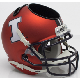Illinois Fighting Illini Orange White I Schutt Mini Football Helmet Desk Caddy