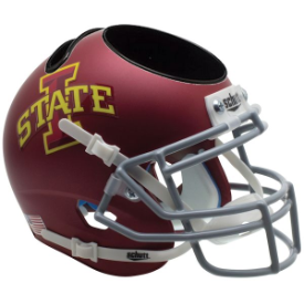 Iowa State Cyclones Matte Maroon Schutt Mini Football Helmet Desk Caddy