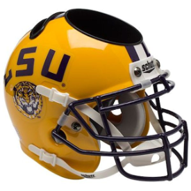 LSU Tigers Schutt Mini Football Helmet Desk Caddy