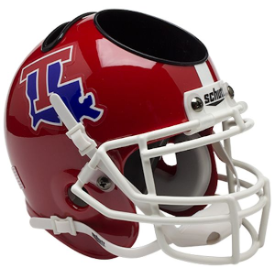 Louisiana Tech Bulldogs Schutt Mini Football Helmet Desk Caddy