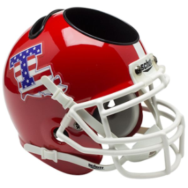 Louisiana Tech Bulldogs Flag Schutt Mini Football Helmet Desk Caddy