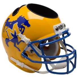 McNeese State Cowboys Schutt Mini Football Helmet Desk Caddy