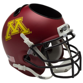 Minnesota Golden Gophers Schutt Mini Football Helmet Desk Caddy