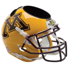 Minnesota Golden Gophers Gold Schutt Mini Football Helmet Desk Caddy