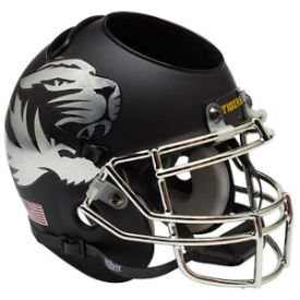 Missouri Tigers Chrome Mask Schutt Mini Football Helmet Desk Caddy