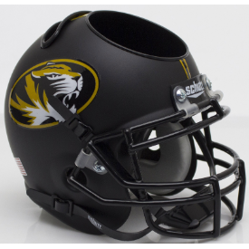 Missouri Tigers Matte Black Schutt Mini Football Helmet Desk Caddy