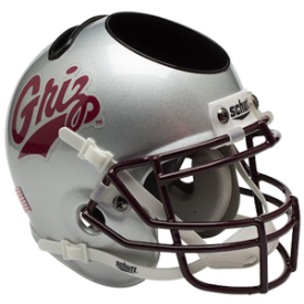 Montana Grizzlies Schutt Mini Football Helmet Desk Caddy
