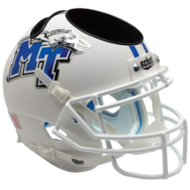 Middle Tennessee State Blue Raiders White Schutt Mini Football Helmet Desk Caddy