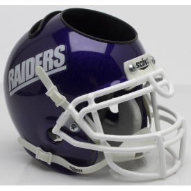 Mount Union Purple Raiders Schutt Mini Football Helmet Desk Caddy