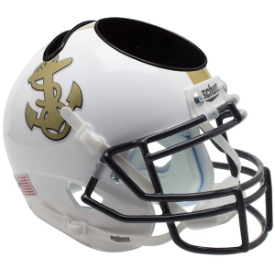Navy Midshipmen White Schutt Mini Football Helmet Desk Caddy