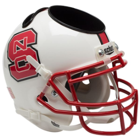 North Carolina State Wolfpack Schutt Mini Football Helmet Desk Caddy