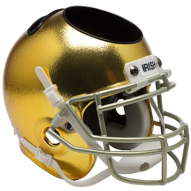 Notre Dame Fighting Irish Textured Schutt Mini Football Helmet Desk Caddy