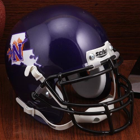 Northwestern State Demons Schutt Mini Football Helmet Desk Caddy
