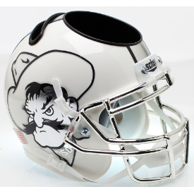 Oklahoma State Cowboys Icy Pistol Pete Schutt Mini Football Helmet Desk Caddy