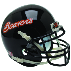 Oregon State Beavers Black Beavers Schutt Mini Football Helmet Desk Caddy