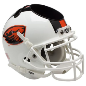 Oregon State Beavers White Schutt Mini Football Helmet Desk Caddy