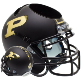 Purdue Boilermakers Matte Black Schutt Mini Football Helmet Desk Caddy