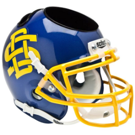 South Dakota State Jackrabbits Schutt Mini Football Helmet Desk Caddy