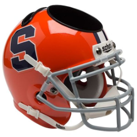 Syracuse Orangemen Schutt Mini Football Helmet Desk Caddy