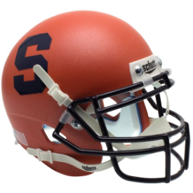 Syracuse Orangemen Satin Orange Schutt Mini Football Helmet Desk Caddy