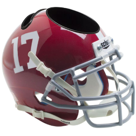 Alabama Crimson Tide Schutt Mini Football Helmet Desk Caddy