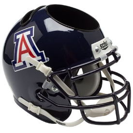 Arizona Wildcats Blue Schutt Mini Football Helmet Desk Caddy