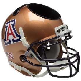 Arizona Wildcats Copper Schutt Mini Football Helmet Desk Caddy