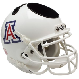 Arizona Wildcats White Schutt Mini Football Helmet Desk Caddy