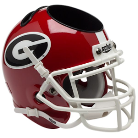 Georgia Bulldogs Schutt Mini Football Helmet Desk Caddy