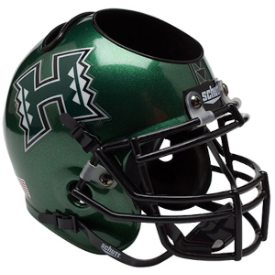 Hawaii Warriors Schutt Mini Football Helmet Desk Caddy