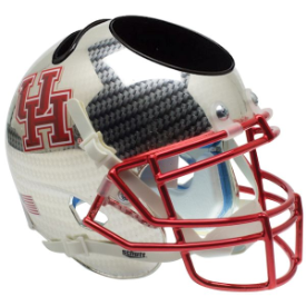 Houston Cougars Carbon Fiber Mini Football Helmet Desk Caddy