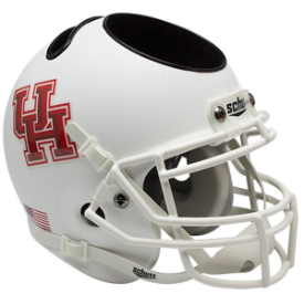 Houston Cougars Matte White Schutt Mini Football Helmet Desk Caddy