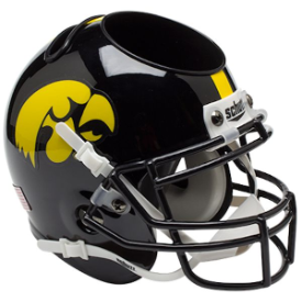 Iowa Hawkeyes Schutt Mini Football Helmet Desk Caddy